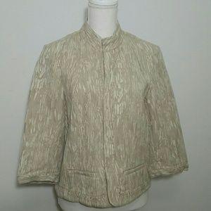 Beige and white 100% cotton Blazer P14